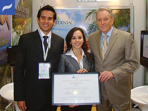 Dr.Obando and Dr.Truque with John Burke, Executive Vice-President and CEO of the AAAHC.